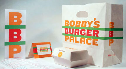 Bobby's Burger Palace logo design