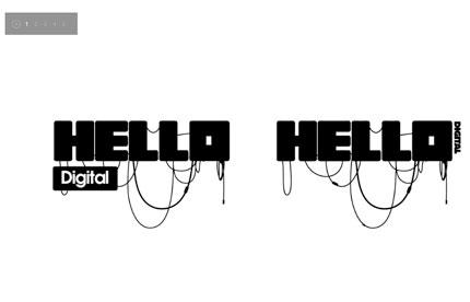 Hello Digital visual identity