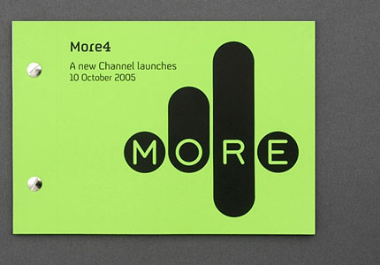 More4 logo design