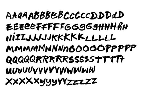 Nuts typeface