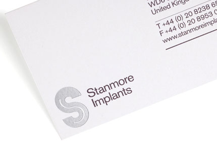 Stanmore Implants stationery design