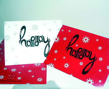 holiday ambigram