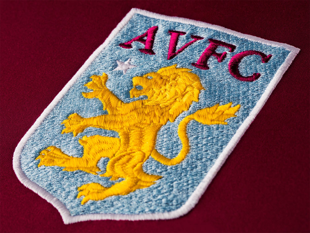 Aston Villa badge embroidery