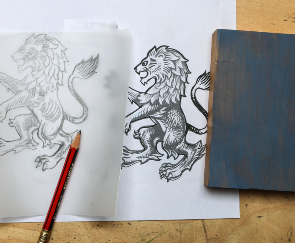 Aston Villa lion sketch