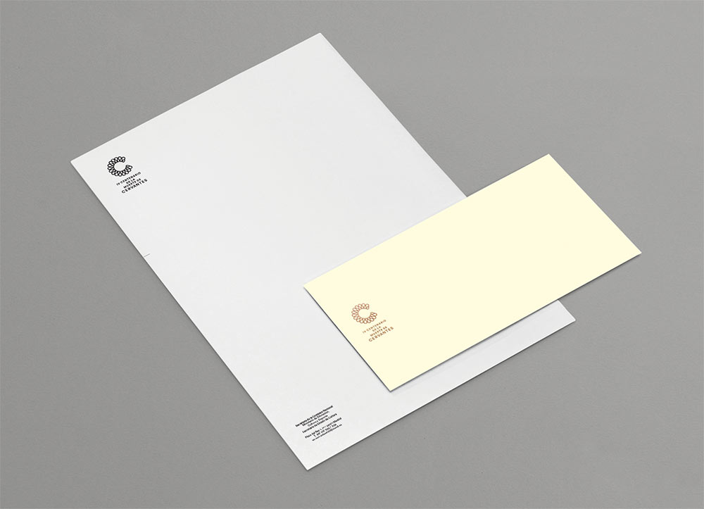 Brandemia Cervantes stationery, by Mucho