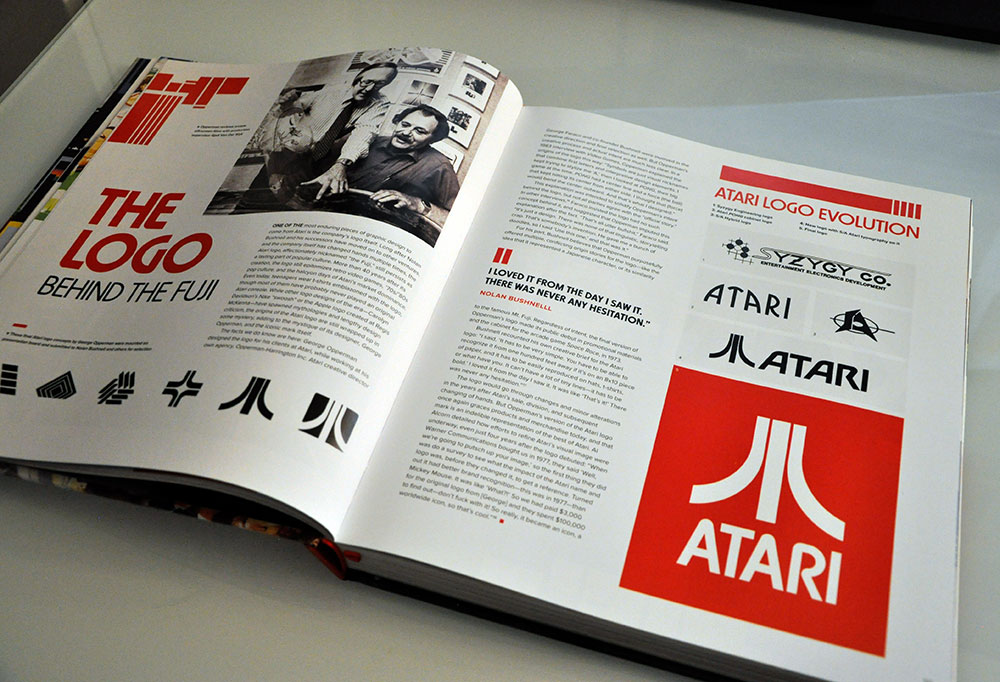 The Atari logo: behind