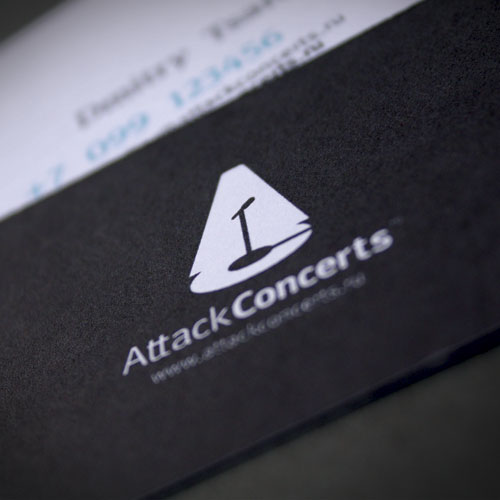 Attack Concerts business card