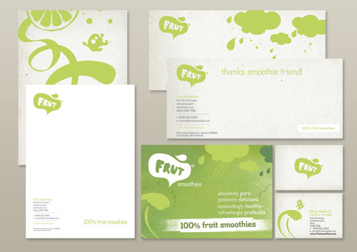 Frut stationery design