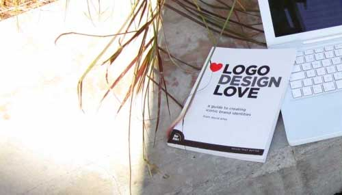 Logo Design Love book and MacBook