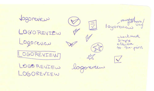 Logo Review sketches