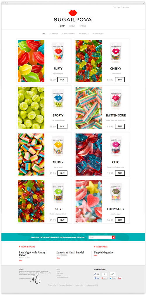 Sugarpova website