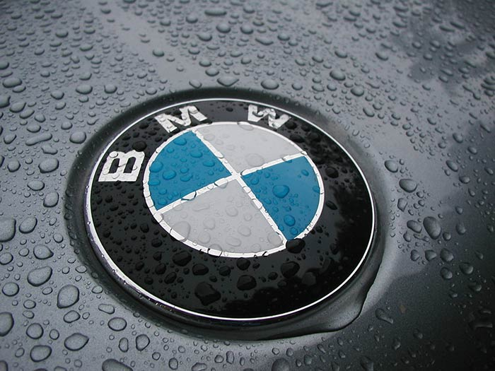 BMW logo on car