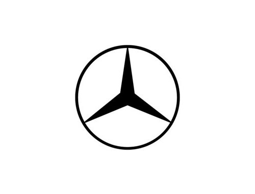 mercedes logo black and white the image