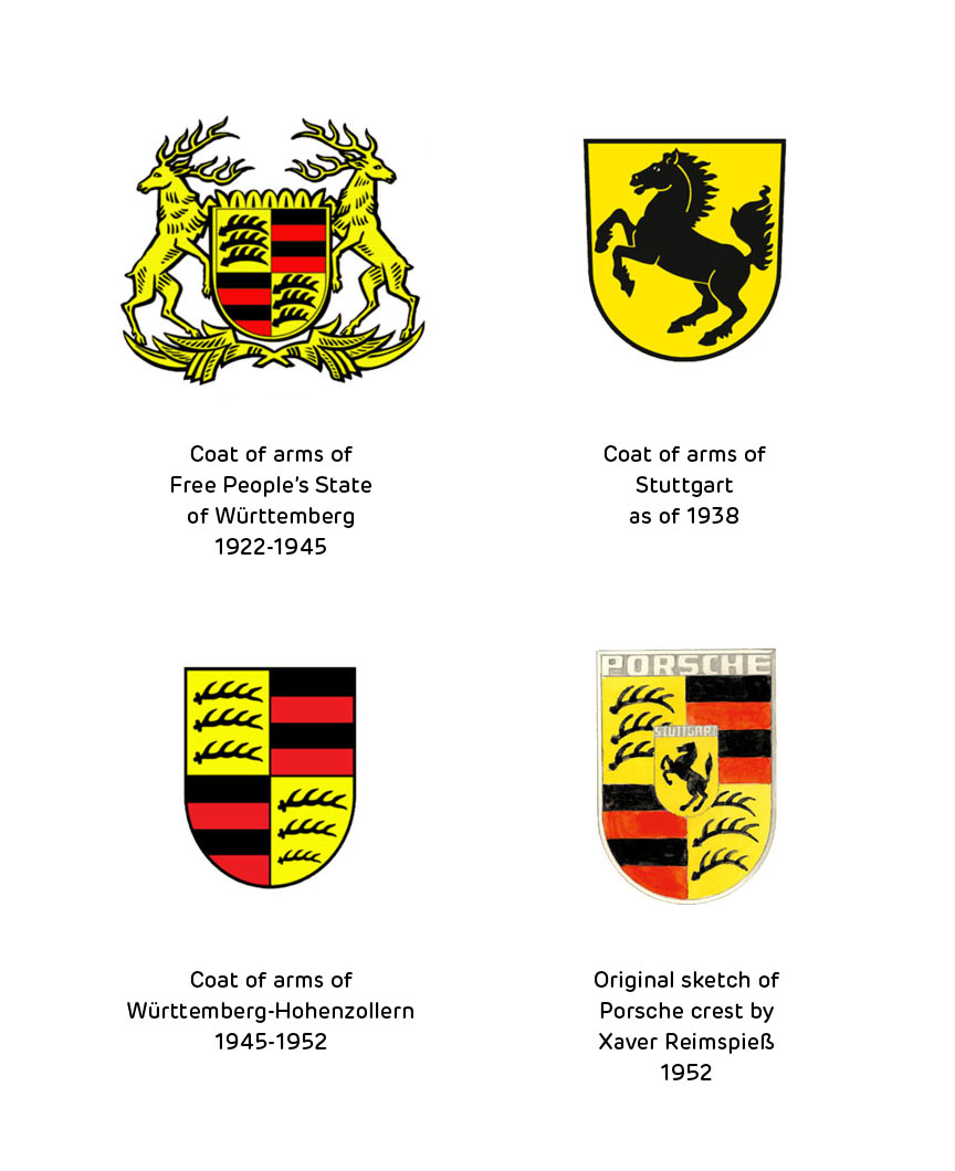 Porsche >> Origins and making of the Porsche crest | Logo Design Love
