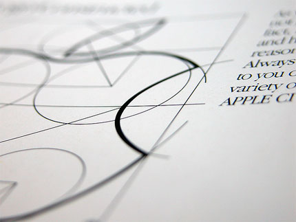 classic apple logo sketch