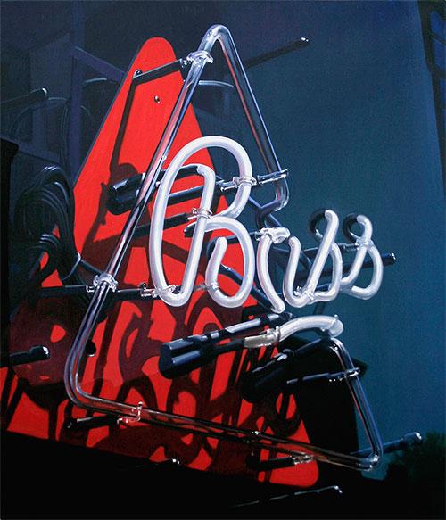 Bass neon sign