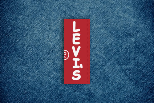 Levi's logo in Comic Sans