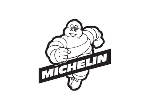 Michelin Man running