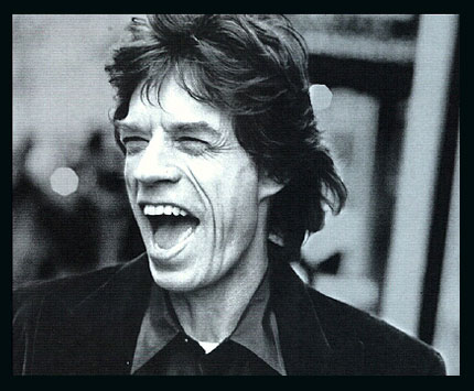Mick Jagger open mouthed