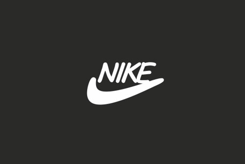 Nike logo in Comic Sans
