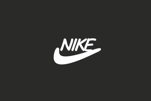 Nike logo in Comic Sans