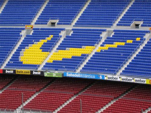 Nike swoosh Camp Nou