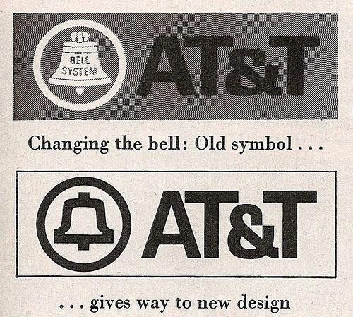 Saul Bass Bell logo redesign