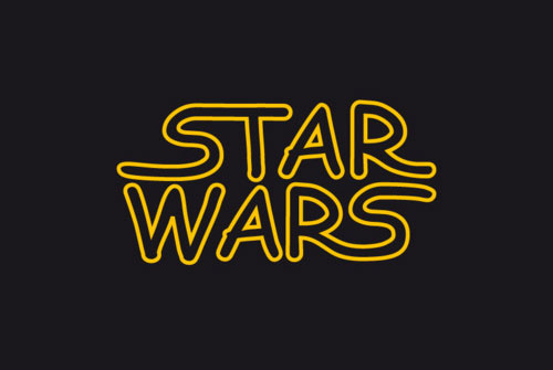 Star Wars logo in Comic Sans