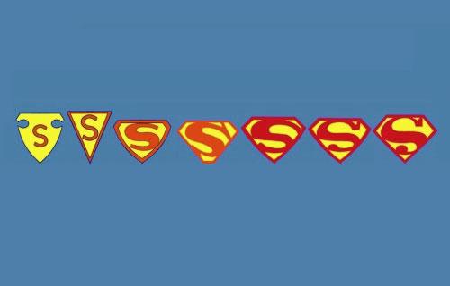 Superman shield evolution