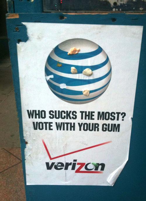 AT&T Verizon gum vote