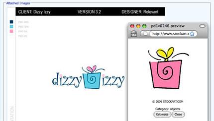 Dizzy Izzy logo design