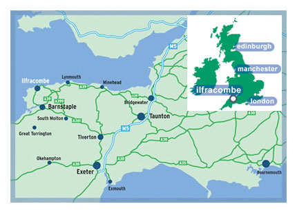 Ilfracombe map