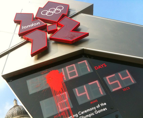 London Olympic clock