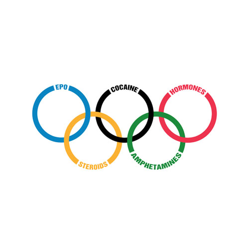 Olympics drugs logo