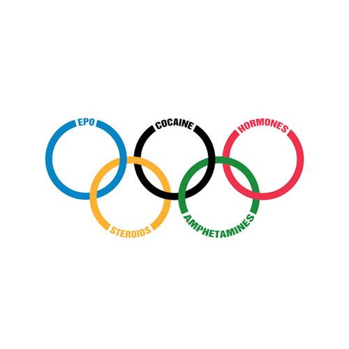 Olympics drugs logo