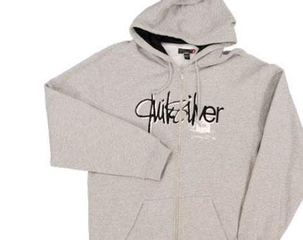 Quiksilver logo design on hoody