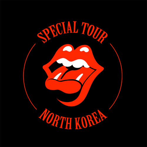 Rolling Stones North Korea logo