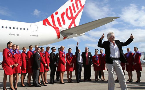 Richard Branson flew in to help relaunch the new brand, John Borghetti...