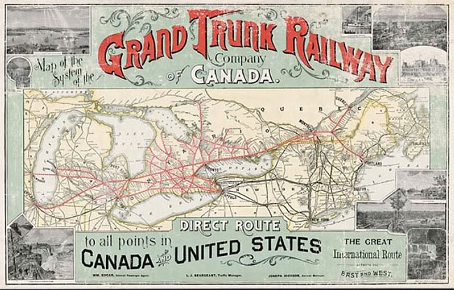 Grand Trunk Railway map