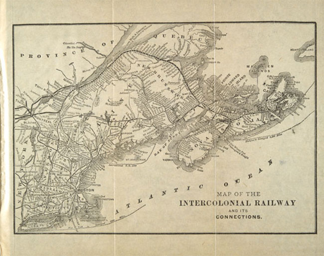 Intercolonial Railway map