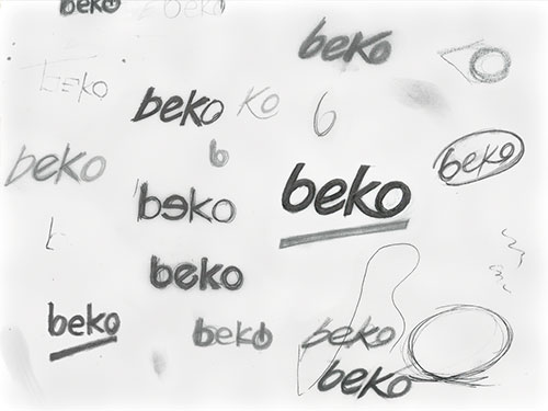 Beko logo sketches