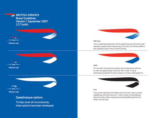 British Airways guidelines