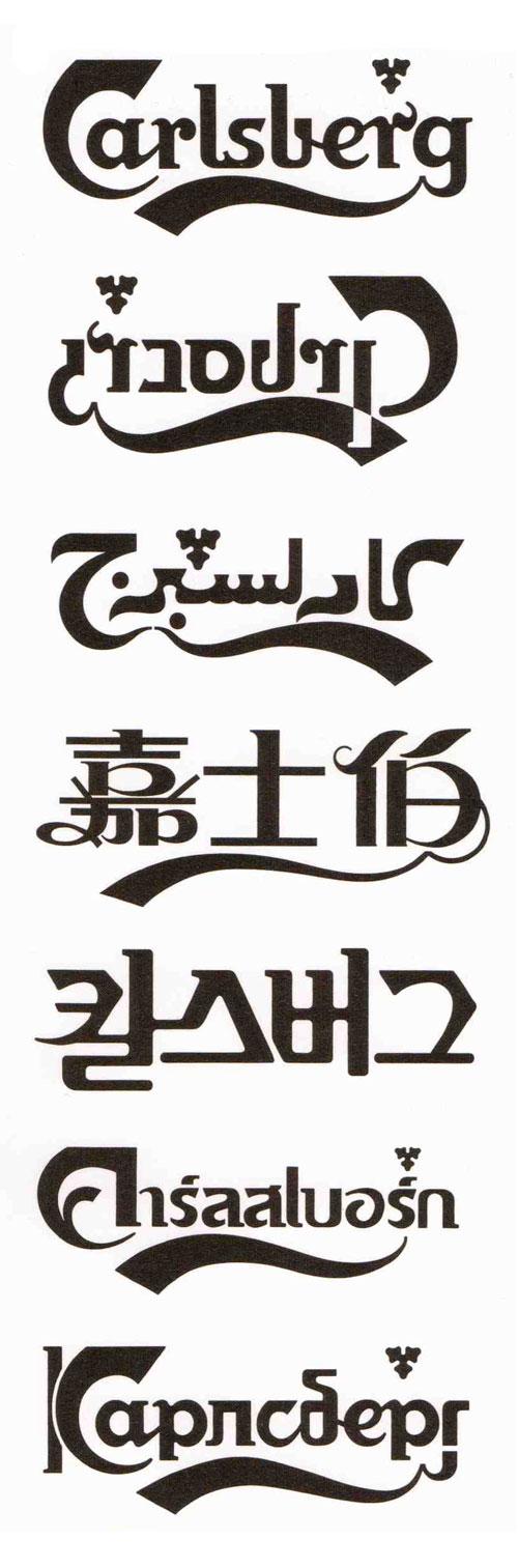 Carlsberg logo translations