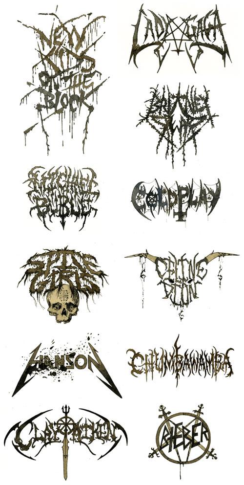 Death Pop logos