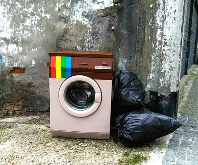 Instagram washing machine