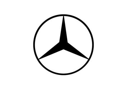 Mercedes Benz Logo Evolution on audi paint