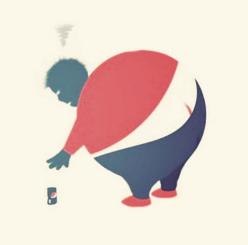 Pepsi butt crack