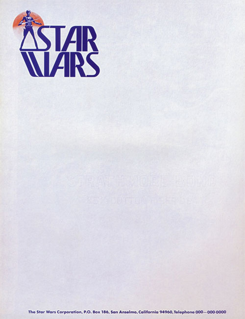 Star Wars letterhead