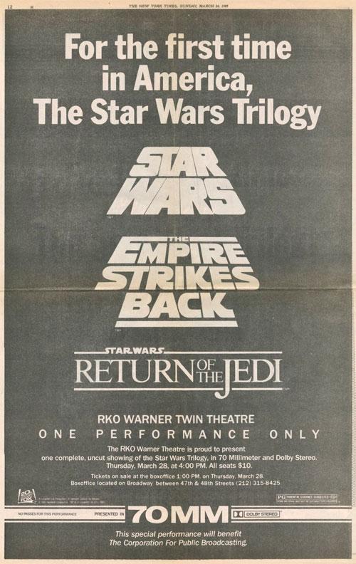 Star Wars trilogy logos