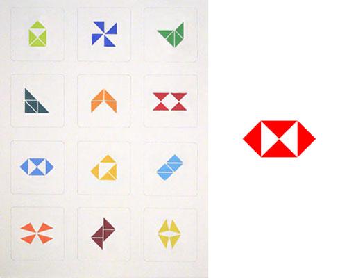 HSBC logo tangram